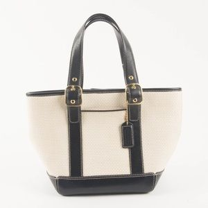 af17d2dc00 Coach Bags - Coach Straw and Leather Bucket Tote